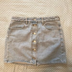 PACSUN Light wash Denim/Jean Skirt